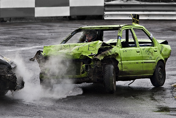 Impact Aftermath at Grimley Raceway